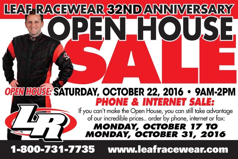 Leaf Racewear Open House and Sale 2016